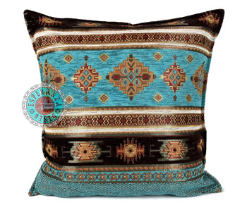 BoHo Bohemian cushion Little Peru Turqoise - 45 x 45
