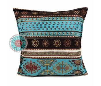 BoHo Bohemian sierkussenhoes Peru Turquoise - 45 x 45