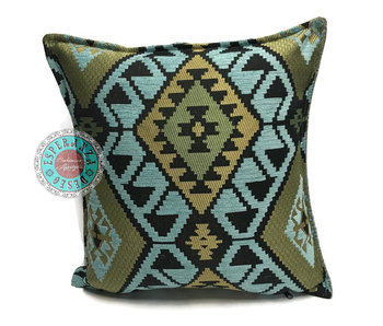 BoHo Bohemian Kelim cushion light blue - 45 x 45