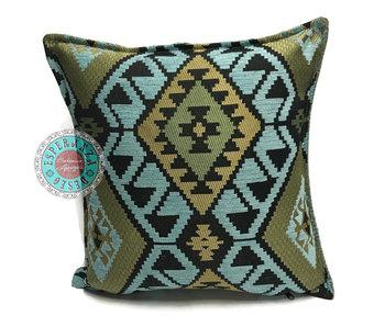 BoHo Kelim cushion  coverlight blue - 45 x 45