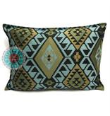 BoHo Decorative cushion of furniture fabric  -  50 x 70