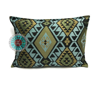 BoHo Bohemian Kelim cushion light blue -  50 x 70