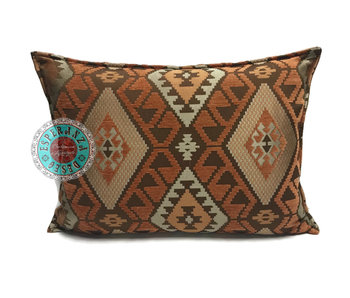 BoHo Bohemian Kelim cushion copper-fox-brown -  50 x 70