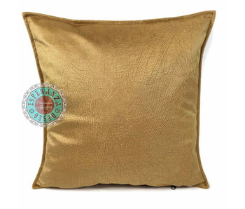 BoHo Sierkussen velvet  oker goud - 45 x 45