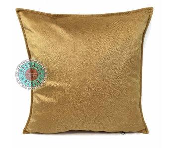 BoHo Zierkissen  Velvet  Ocker-Gold - 45 x 45