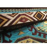 BoHo Decorative cushion Maya Turqoise  made of turquoise furniture fabric - 45 x 45 cm