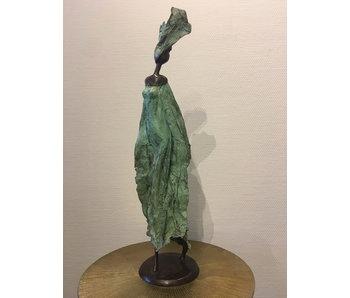 African Art Afrikaanse vrouw, brons  - XL