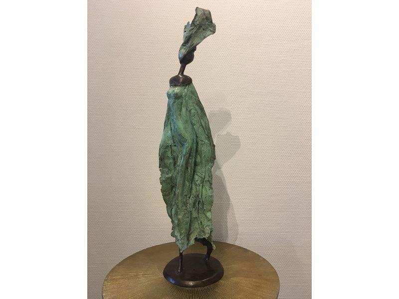 Groot echt bronzen beeld - Fairtrade object uit Burkina Faso - XL