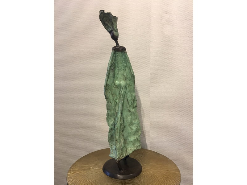 Large real bronze statue - Fairtrade  object from Burkina Faso - XL