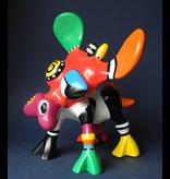Jacky Art Cow Bea, brightly coloured animal figurine by Jacky Zeegers