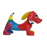 Jacky Art Dog Jonno, dachshund, brightly coloured animal figurine