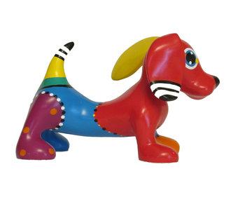 Jacky Art Colorido objeto de arte Jonno, perro salchicha