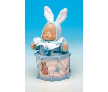 Musicboxworld Speeldoos -Baby (jongen) in trommel