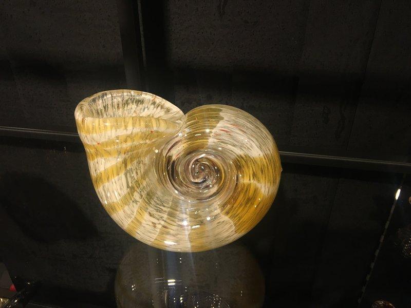 Gilde GlasArt Champagne kleurige kleine vaas van glas