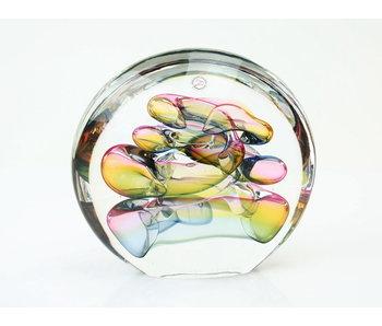 Ozzaro  Disco - objeto de vidrio de color