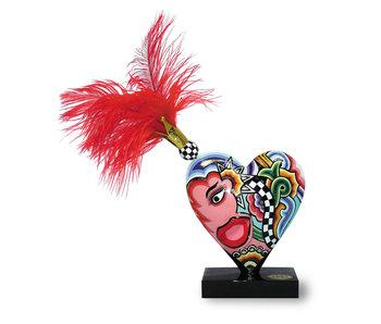 Toms Drag Corazón con pluma rojo - M