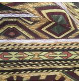 BoHo Ornamental cushion Maya in ochre, yellow and brown 45 x 45 cm