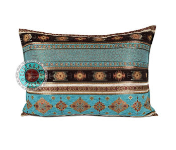 BoHo Bohemian cushion Little Peru Turqoise - 50 x 70 cm