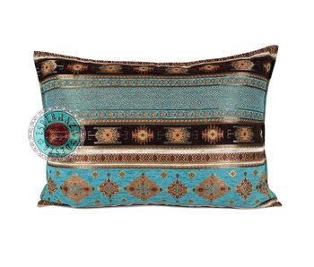 BoHo Bohemian sierkussen Little Peru Turqoise - 50 x 70 cm