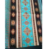 BoHo Dekoratives Kissen Little Peru Turqoise aus türkisfarbenem Möbelstoff  - 50 x 70 cm