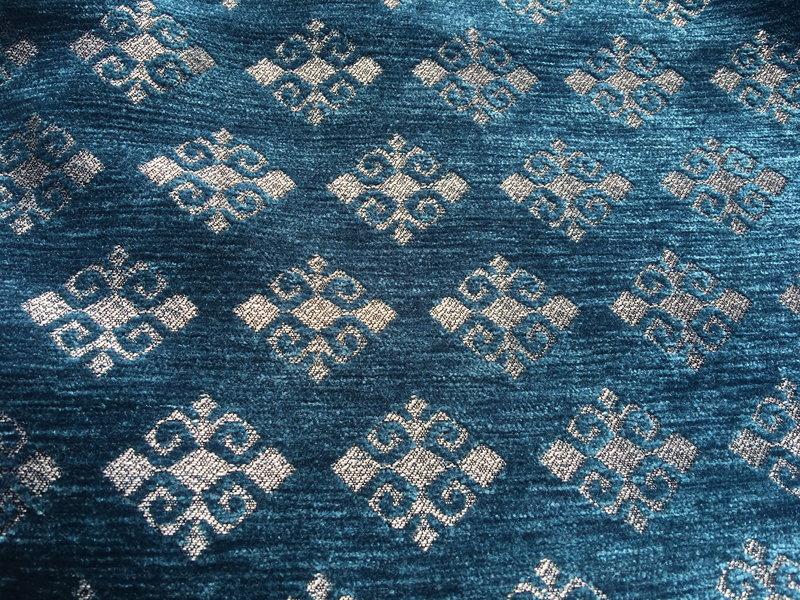 BoHo Böhmisches Zierkissen aus Möbelstoff, 2 St Medieval Blau - 45 x 45 cm