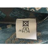 BoHo Cushion cover made of woven furniture fabric - Medieval Blue Petrol - 50 x 70 cm