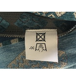 BoHo Funda de cojín de tela de mobiliario tejida - Azul Medieval Petrol - 50 x 70 cm