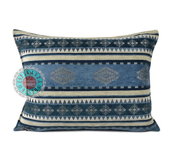 BoHo Bohemian decorative cushion Medieval Blue - 50 x 70 cm