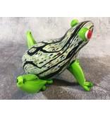 Rana de cristal, estatua única de rana de cristal