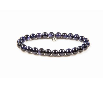 Karma Natural stone bracelet Rebel without a cause - dark blue