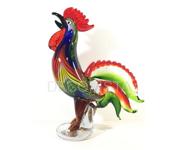 Glass art object rooster