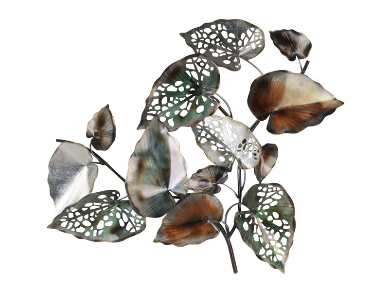 Maison de France Autumn leaves, metal wall object