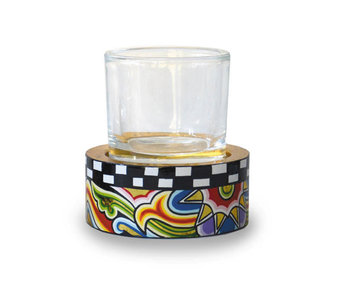 Toms Drag Candleholder T-light with glass - SM (LAST PIECE)