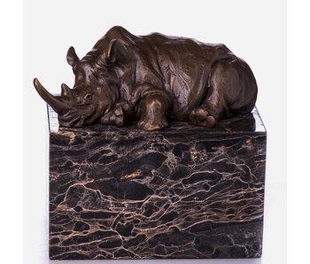 Bronze Nashorn - liegend