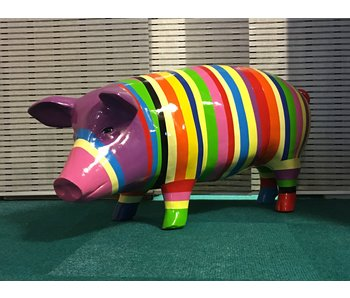 Cerdo de color grande - de rayas