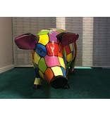 Cerdo de poliéster grande y de colores brillantes - resistente a la intemperie