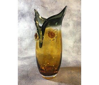 Eldig Glas Design Vase Eule - L