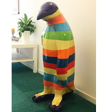 Cheerful penguin statue for indoors and outdoors