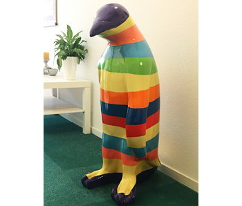 Gartenstatue farbiger Pinguin XL