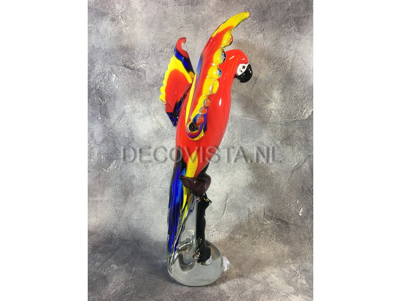 Guacamayo colorido de cristal, objeto de arte