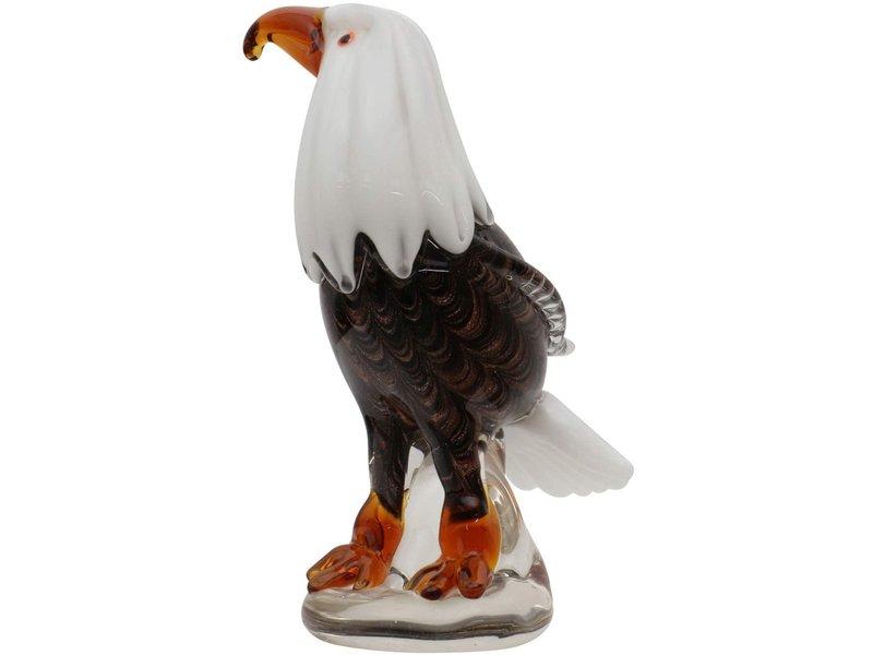 Objeto de vidrio águila, ave de cristal