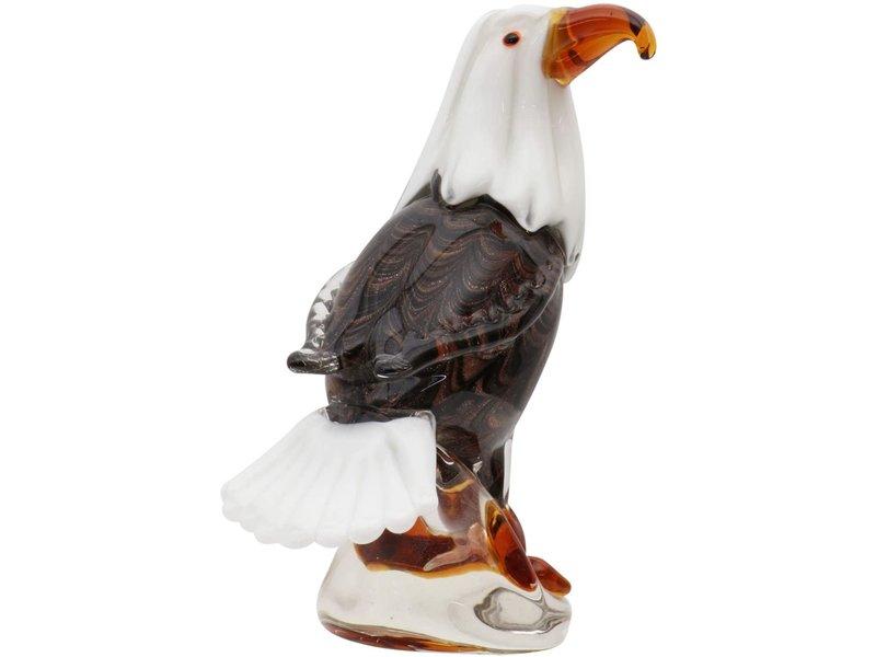 Glasobject adelaar, vogel van glas