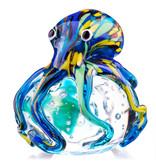 Glass octopus on transparent bubble