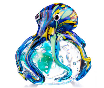 Briefbeschwerer Glas Octopus