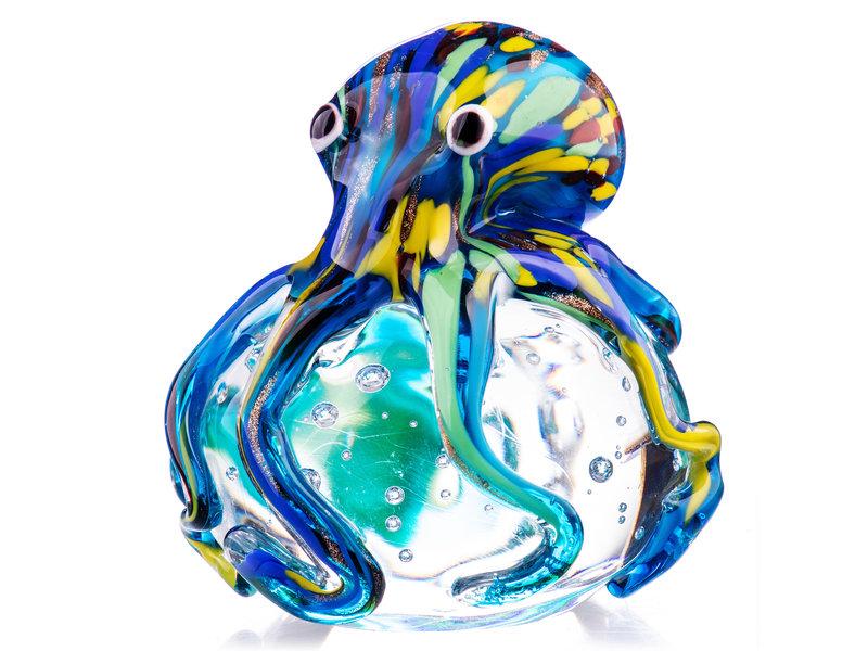 Pulpo de cristal en burbuja transparente