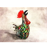 Colorful cock of glass, ar object