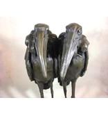 Bronze Marabout Paar