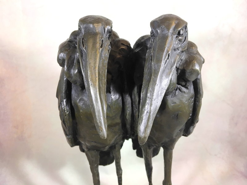 Bronze Marabout couple