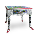 Toms Drag Side table Versailles collection with with silver decorations
