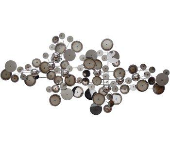C. Jeré - Artisan House Wandsculptuur Raindrops Silver/Chrome - M
